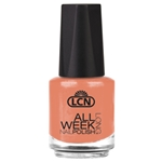 All Week Long - peaches and cream nail polish, extended wear polish, top coats, nails, nail art