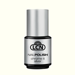 "Chrome It Polish ""silver"" nail polish, extended wear polish, shellac, creative play, top coats, nails, nail art, essie, opi, color gel, hard gel"