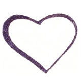 Body Glitter Form-Heart 5 pcs