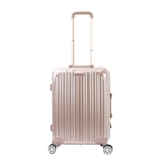 LCN Travel Suitcase in Metallic Rose Gold